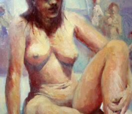 Seated nude 2020